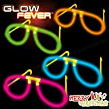 Glow Sticks Bulk 20ct Glow Eyeglasses, Glow in The Dark Rave Party Glasses Birthday Wedding Favors Glow Party Supplies Christmas Halloween Decor