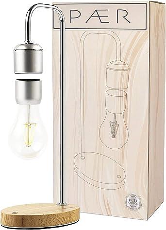 Leslaur Table LED Magn/étique Lampe Ampoule Flottante Atmosph/ère Atmosph/érique Veilleuse avec Chargeur Sans Fil pour Android Bureau Maison Chambre Chambre D/écor