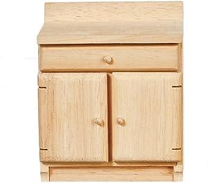 Melody Jane Dollhouse Base Unit Unfinished Bare Wood Miniature Kitchen Furniture A