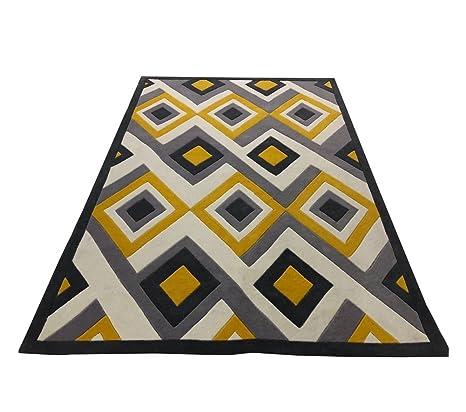 Amazon.com: ZXH Rug Rectangle Trendy Hand Made Carpet Living ...