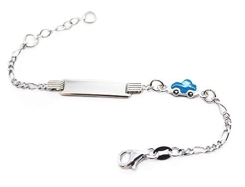 MyOwnName, braccialetto per neonati personalizzabile, in argento 925,  regalo di battesimo per bambini Amazon.it Gioielli