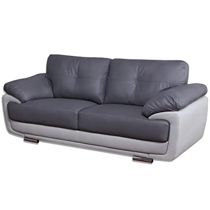 mansfield two tone grey leather sofas all combinations available rh amazon co uk two tone leather couch two tone leather couch