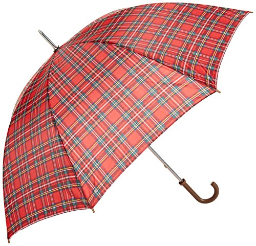 po-campo-rain-street-simple-checks-umbrella-yellow
