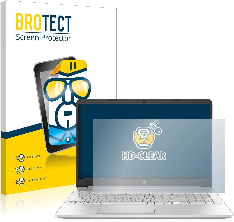 BROTECT Protector Pantalla Compatible con HP 15s-fq1001ng Protector Transparente Anti-Huellas