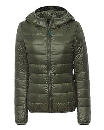 Damen Daunenjacke Leicht Winter Jacke Daunenmantel Übergangsjacke Steppjacke  Mit Kapuze  Amazon.de  Bekleidung e8580087c0