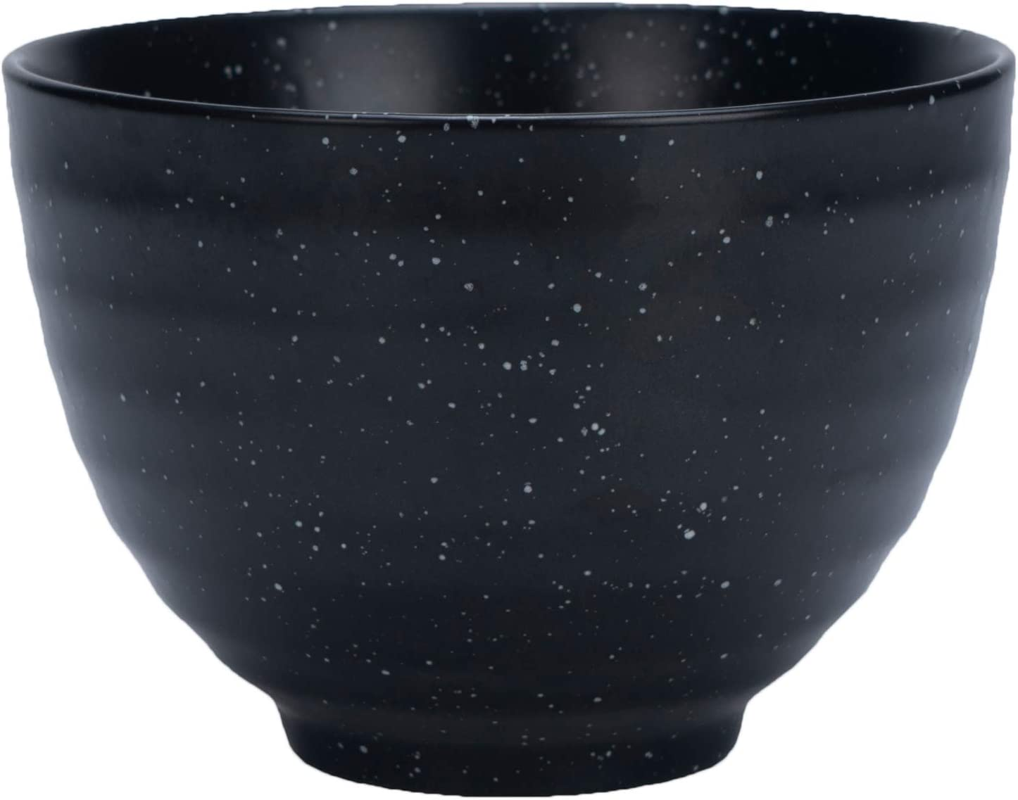 Black Matcha Tea Bowl (Ceramic) Classic Japanese Drinking Cup | Daily and Ceremonial Grade Use | Authentic Asian Experience | Heavy-Duty Ceramic Finish