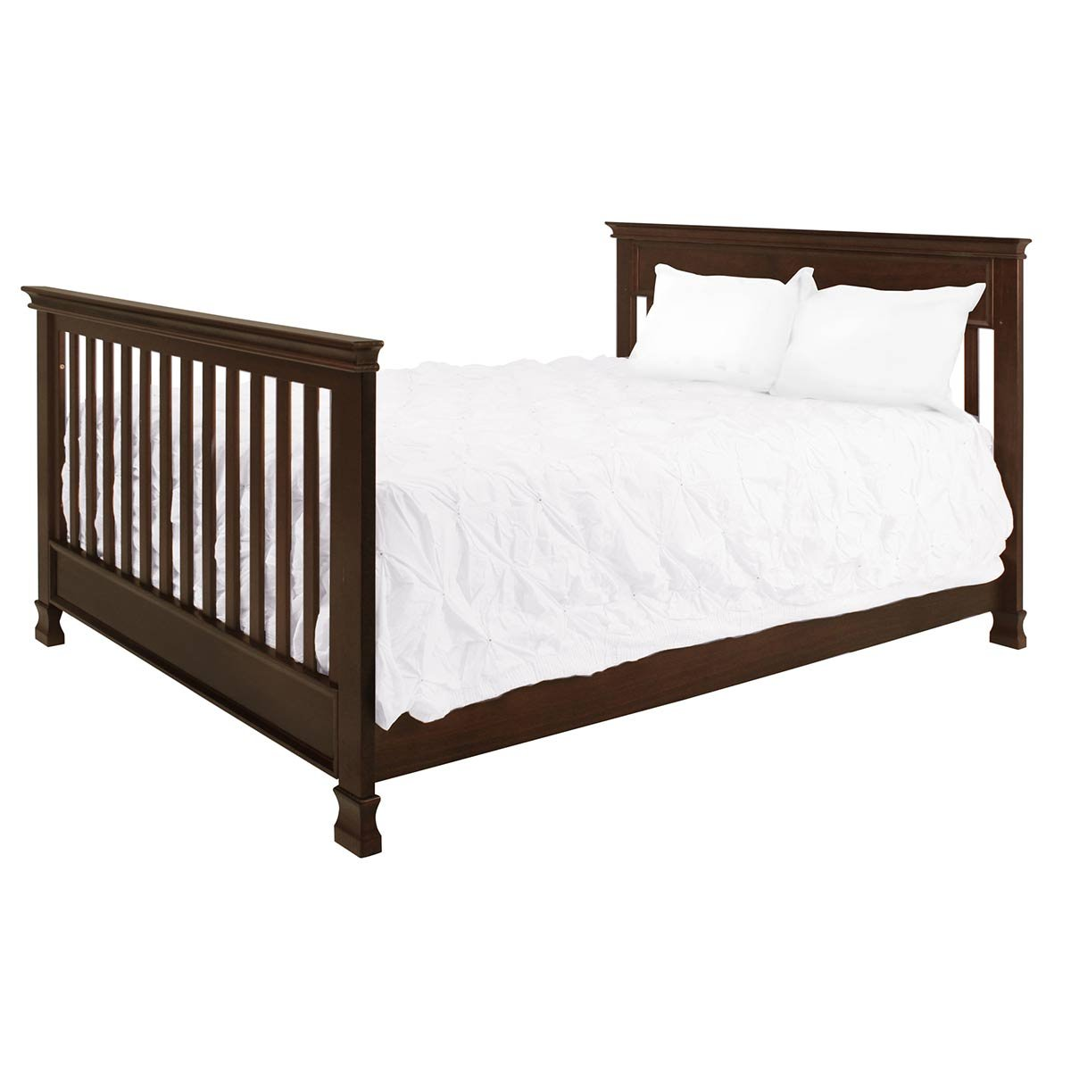 Full Size Conversion Kit Bed Rails for Million Dollar Baby Ashbury, Foothill & Louis Cribs - Espresso by Grow-with-Me Crib Conversion Kits (Image #5)