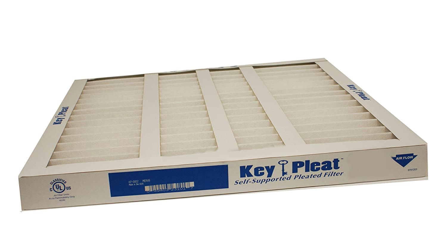 Sterling Seal and Supply STCC KP 5251072153x1 Purolator Key Pleat Extended Surface Pleated Air Filter Mechanical MERV 8 18 W x 24 H x 1 D