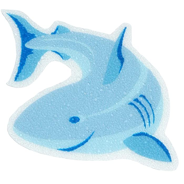 SlipX Solutions Adhesive Bath Treads: Shark Tub Tattoos Add Non-Slip Traction to Tubs, Showers & Other Slippery Spots (Kid Friendly, 5 Count, Reliable Grip)
