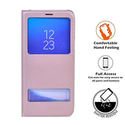arrives 1183b 91bf4 Amazon.com: LIKESEA View Window PU Leather Flip Case Cover For ...
