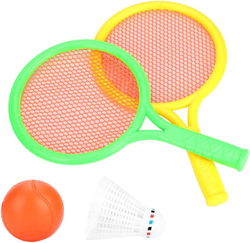 Podazz 1PCS Badminton Tennis Racket with Balls Set Outdoor Sports Family Game for Outdoor Indoor Baby Children Educational Sports Game Gifts Toys Random Color