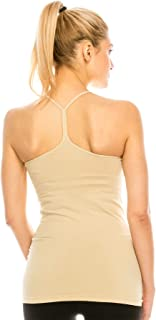 product image for Kurve Y-Back Cami with Removable Pad, UV Protective Fabric UPF 50+ (Made with Love in The USA)