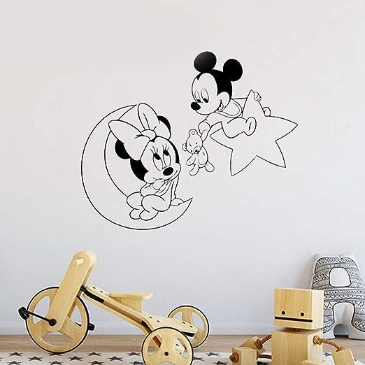 Mickey Minnie Mouse Arte de la pared Sticker Decal Mickey Minnie ...