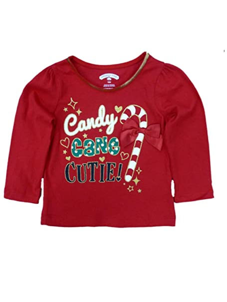 f129fff6 Holiday Time Infant Toddler Girl Candy Cane Cutie Christmas T-Shirt Tee 12m