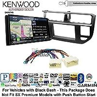 Volunteer Audio Kenwood DNX874S Double Din Radio Install Kit with GPS Navigation Apple CarPlay Android Auto Fits 2012-2014 Kia Rio (Black)