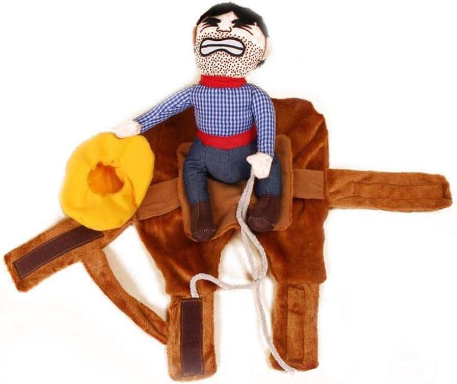 1 Juego De Vaquero Para Mascotas Ropa Rider M Gato Del Perro De La Chaqueta De Vestir Sudaderas Con Capucha Divertida De Cosplay Animal Doméstico Divertido Traje De Montar a Caballo Del Vaquero