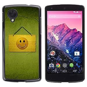 TopCaseStore / la caja del caucho duro de la cubierta de protección de la piel - Hapy Smiley Area - LG Google Nexus 5 D820 D821
