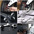 KISENG Flexible Pivoting Head Ratchet Combination Spanner Wrench Garage Metric Tool 6pcs a Set 6mm-12mm