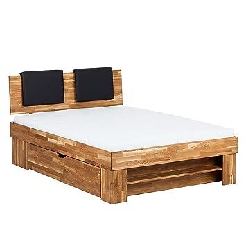 Unbekannt Massivholzbett Rasmus 180x200cm Eiche Massiv Holz Bett Mit  Schubkästen