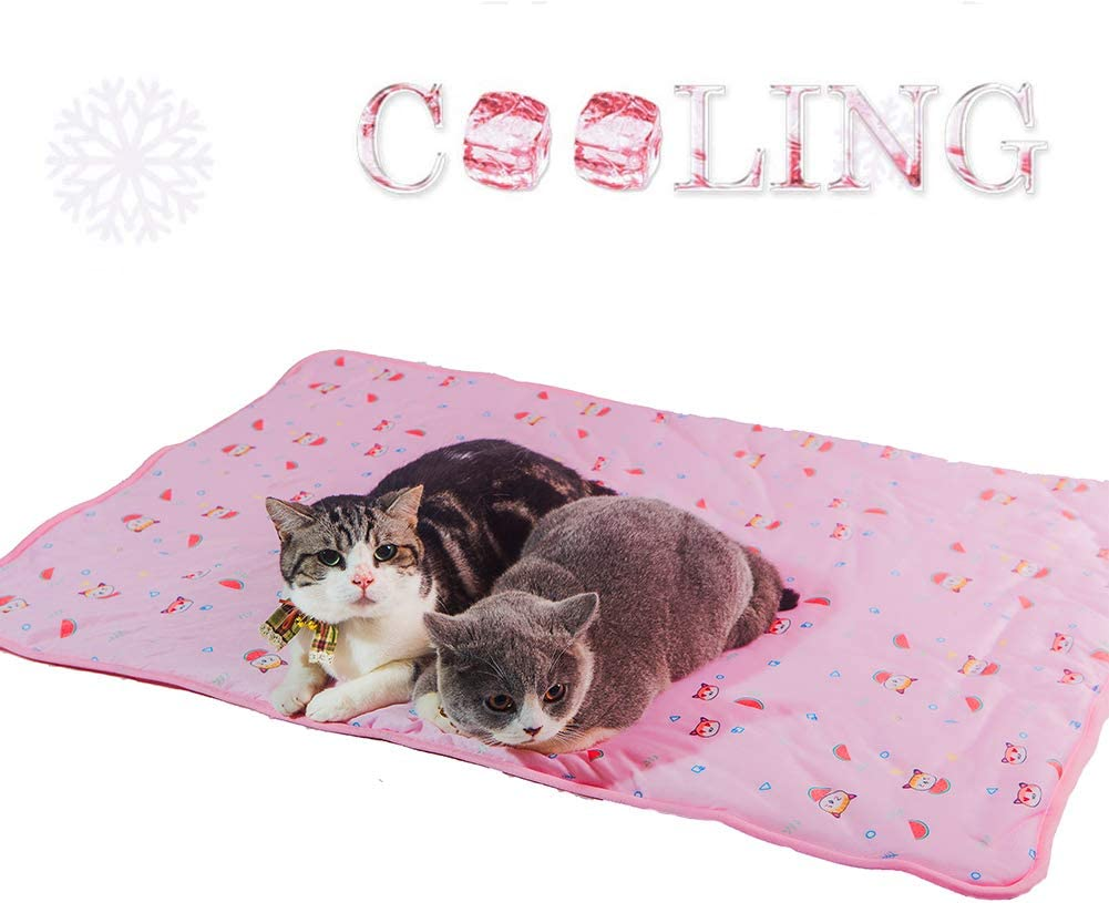 Yu-Xiang Dog Ice Pad Ice Silk Cats Kennel Easter Eggs Mat Pet Cooling Pad Summer Cool Bamboo Mat Breathable Pad