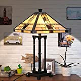 Cloud Mountain Tiffany Style Egyptian Table Lamp Home Decor Lighting Mission Design Desk Lamp with 14.25