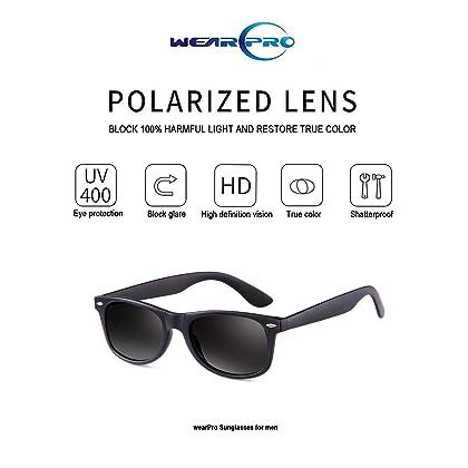 a5dc02d673 ... Sunglasses for Men Vintage Polarized Sun Glasses Mens Shade WP1001-2(matte Black  ...
