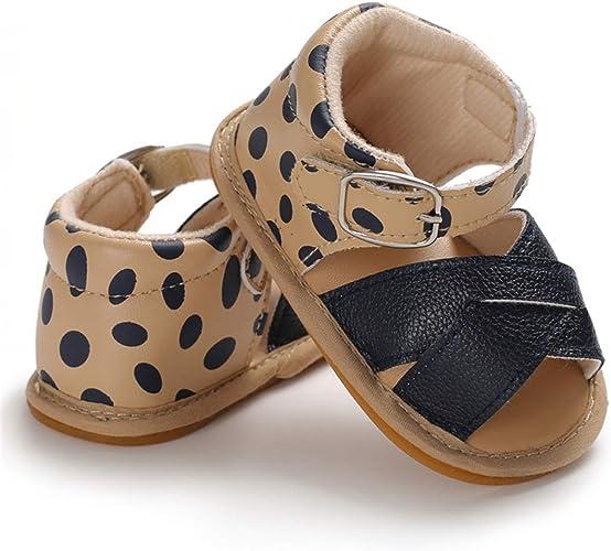 Toddler Baby Boys Girls PU Leather Soft Sole Anti-Slip Summer Prewalker Sandals