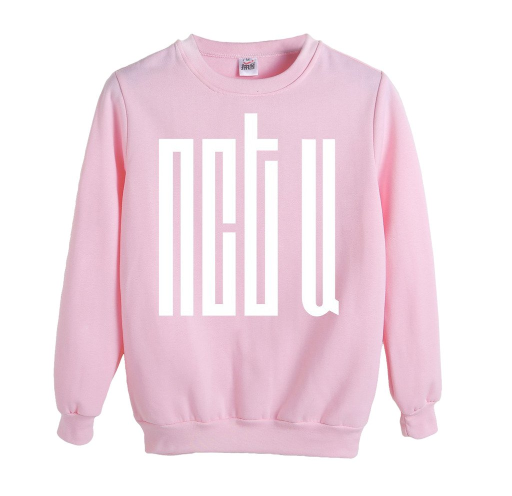 NCT U Sweatshirt All Members Mark TaeYong Taeil Ten Pullover Sweater M Pink