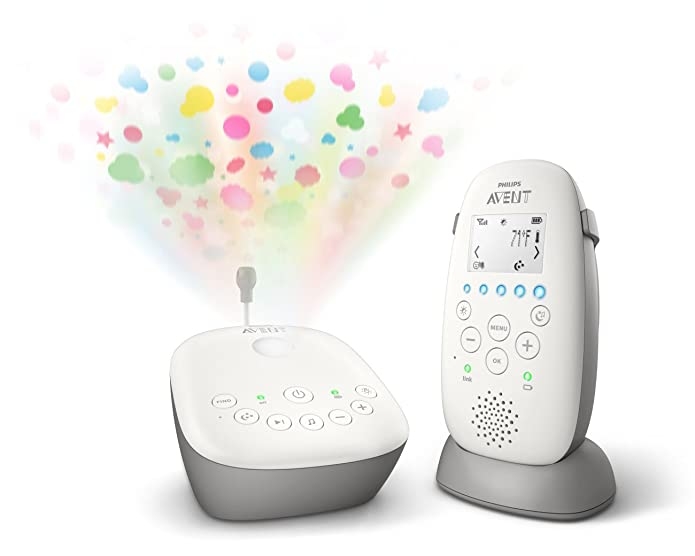 Philips Avent Dect Audio Baby Monitor with Starry Night Projector SCD730/86