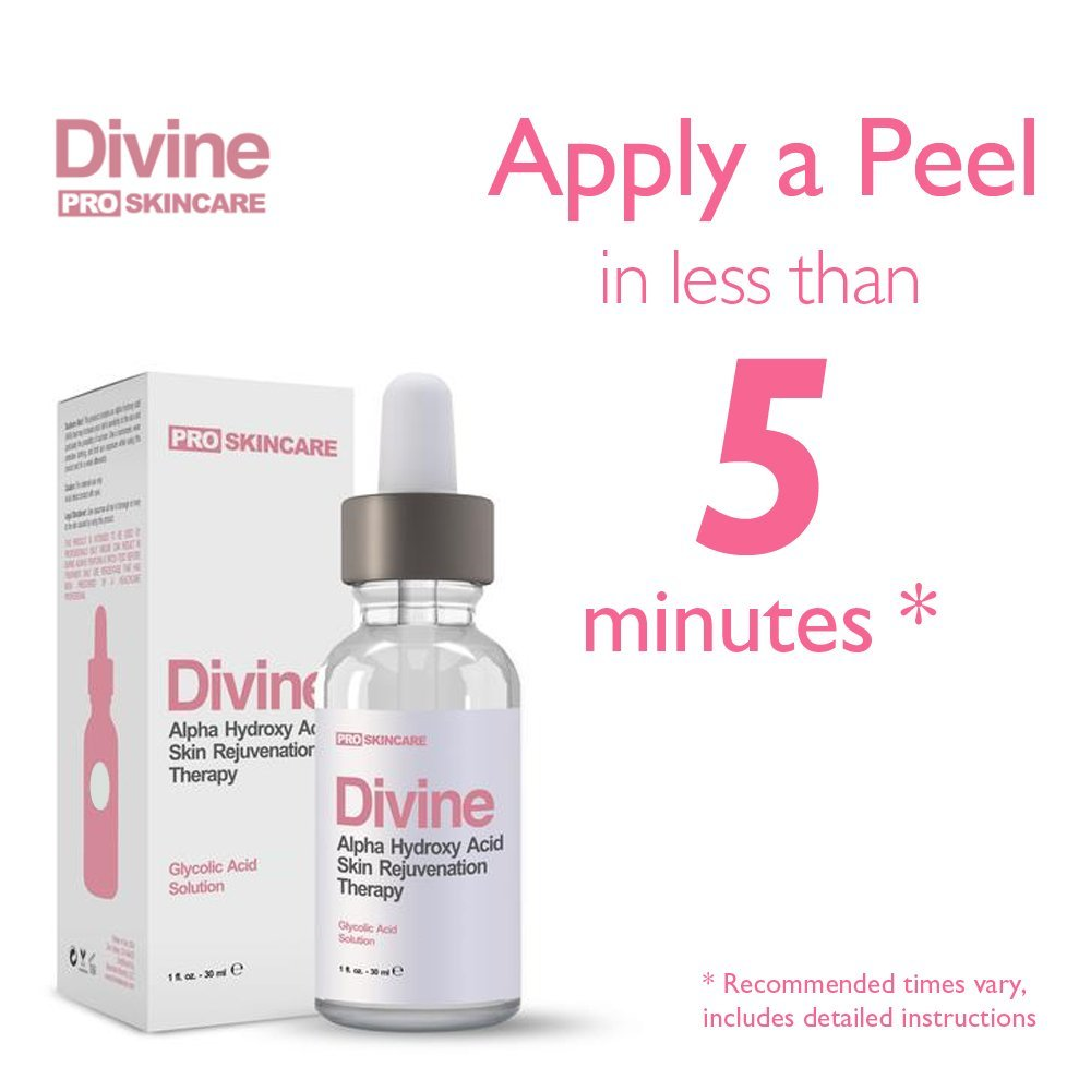 Amazon Com Divine Glycolic Acid 70 Anti Aging Aha Facial Peel Gel