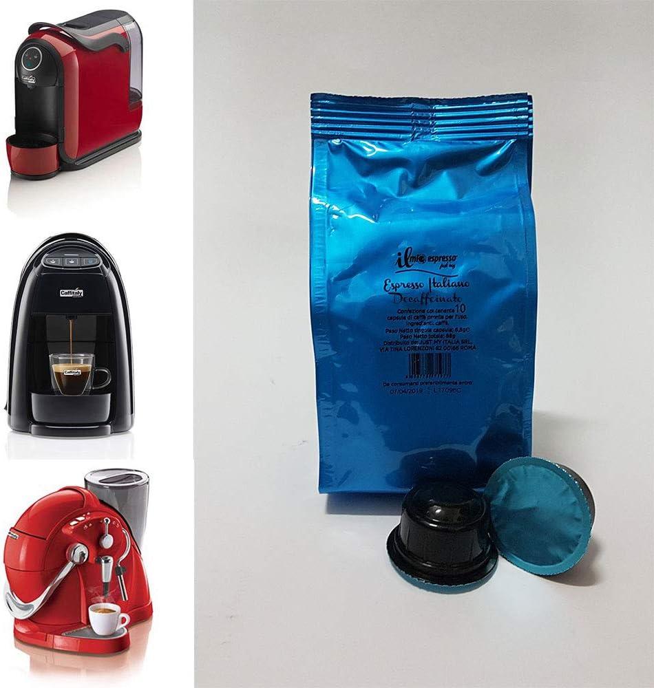 100 cápsulas compatibles Caffitaly Espresso Decaffeinato – 10 ...