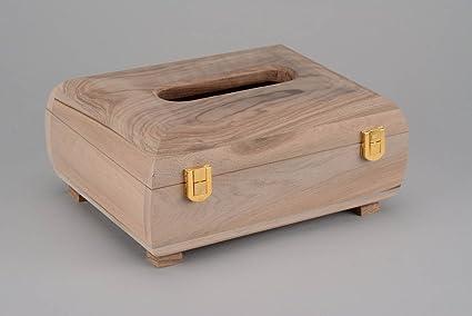 Caja de madera para decorar con corte