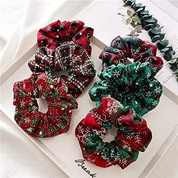 """Christmas foe Christmas elastic Christmas hair ties my 1st Christmas foe-5//8"""""""