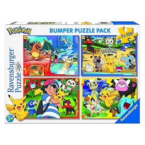 Ravensburger Puzzle 4x 100pièces Bumper Pack, Pokémon (6929)