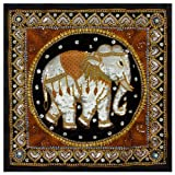 Oriental Furniture Burmese Elephant Tapestry Wall Hanging