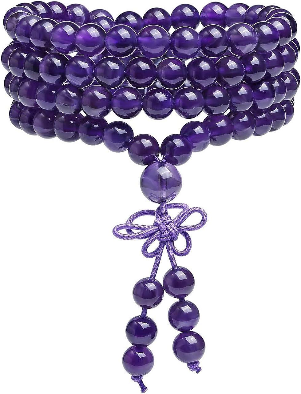 6 mm Azurite 108 Perles Mala bouddhiste Bracelet Collier Bracelet Chic spiritualité