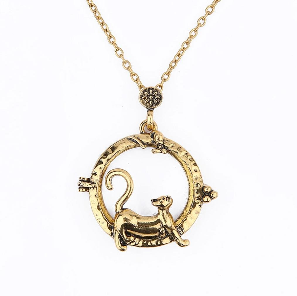 Sinfu Necklace For 1PC Women Personalized Fashion Magnifier Magnify Glass Reeding Chain Necklace Pendant Jewelry Accessories Collectors Gift (D)