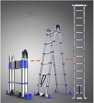 AOLI Escalera telescópica, gruesa de aleación de aluminio Escalera plegable multifunción Escalera ascendente Adecuado para escaleras domésticas Escaleras elevadoras de ingeniería Escalera de extensió: Amazon.es: Bricolaje y herramientas