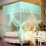 Household bracket mosquito net,Floor extension mosquito netting Double household keeps away insects & flies large screen netting bed canopy ultra large mosquito net-D
