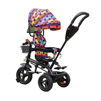 Bici del bebé de 3 Ruedas del Carro de bebé de Goma de Las Ruedas de