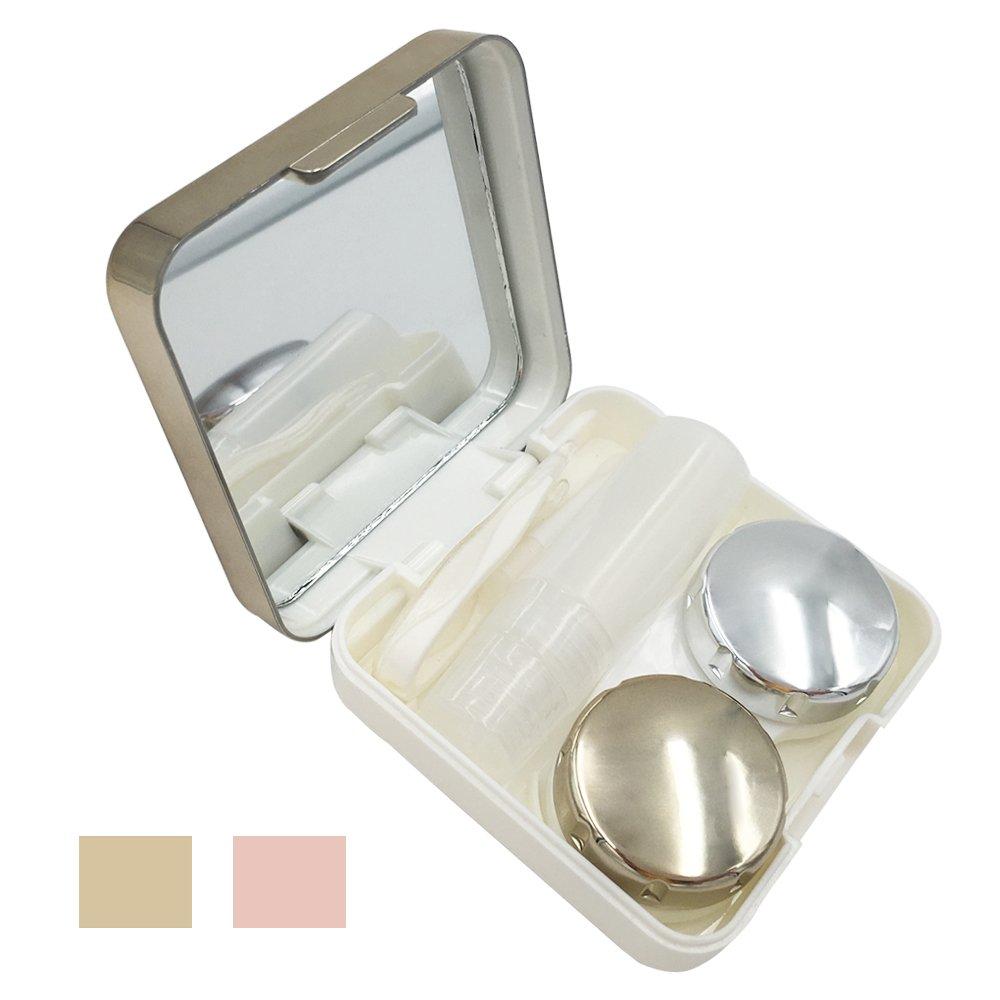 Contact Lens Case – Portable Contact Lens Kit for Travel & Home (Golden)