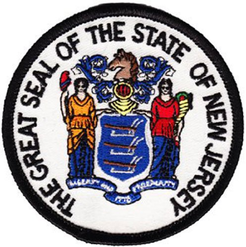 New Jersey - 3 in Round State Seal Patch ()