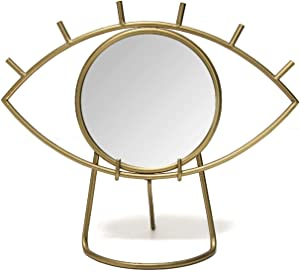 Stratton Home Décor Stratton Home Decor Gold Eye Tabletop Mirror, 14.00
