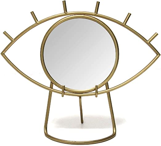 Amazon Com Stratton Home Decor Stratton Home Decor Gold Eye Tabletop Mirror 14 00 W X 6 00 D X 11 50 H Home Kitchen