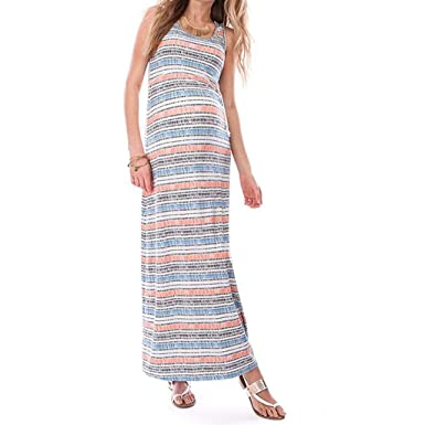 Janly Clearance Sale Maternity Dress for Women Dresses Fashion Solid Color Sleeveless Ladies Pregnat Comfortable Midi Dresse for Photoshoot Casual
