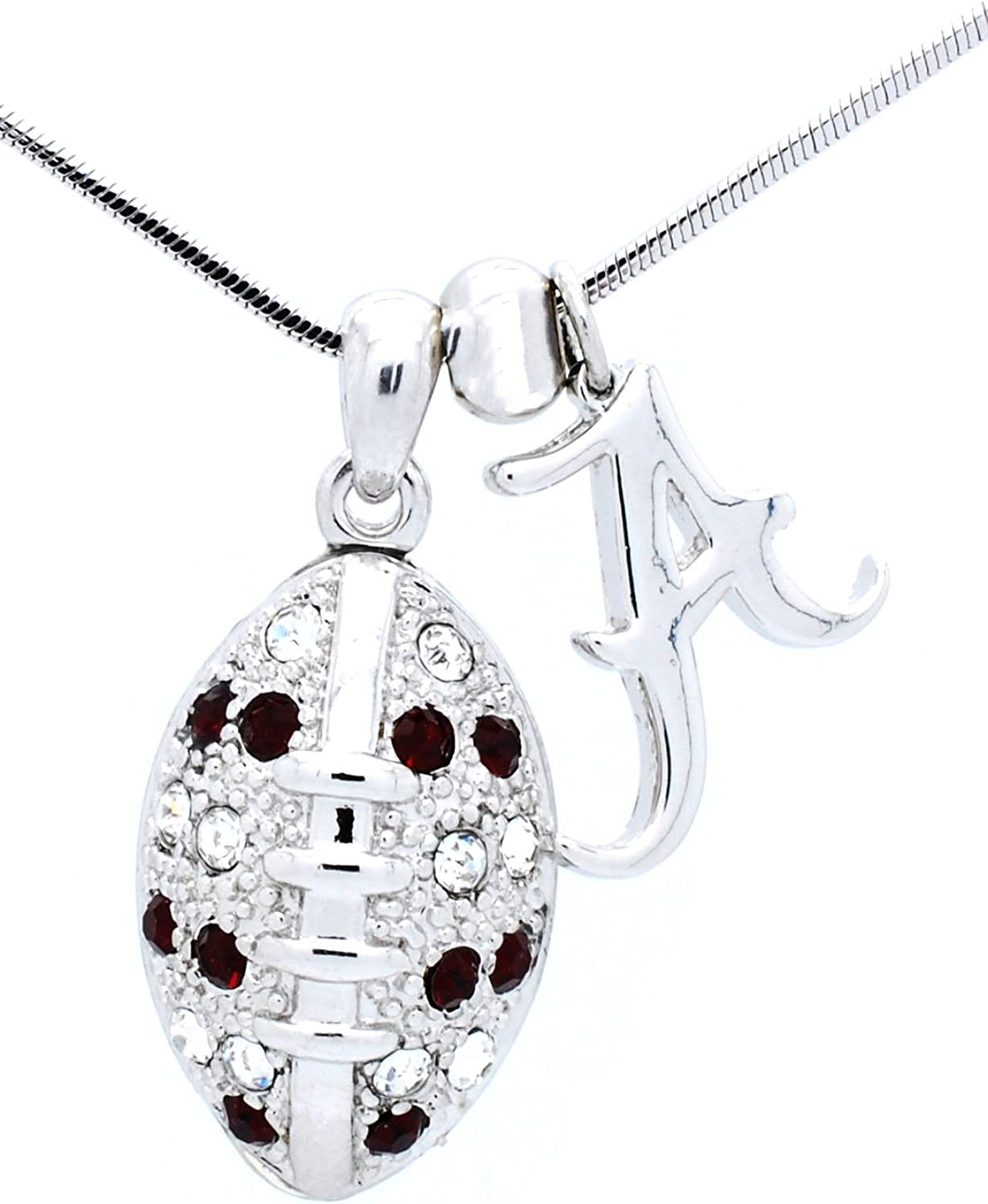 Violet Victoria & Fan Star Jewelry College Football Necklace - Crystal - Large