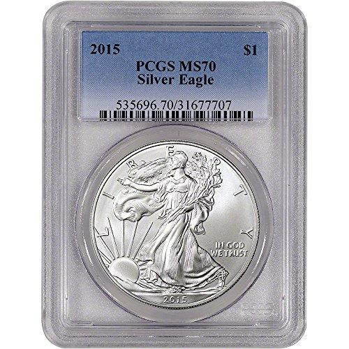 2015 American Silver Eagle $1 MS70 PCGS