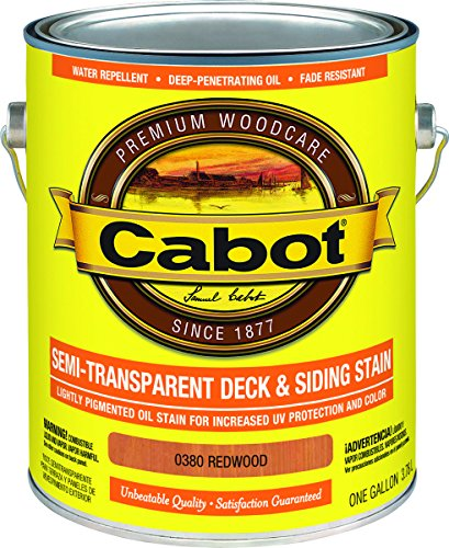 Cabot 0380 Semi-transparent Oil-based Deck And Siding Stain, Gallon (Pack of 4)