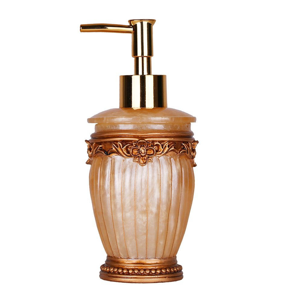 Valery Madelyn Badezimmer Set 5tlg Gold Badset Aus Harz Luxurioses