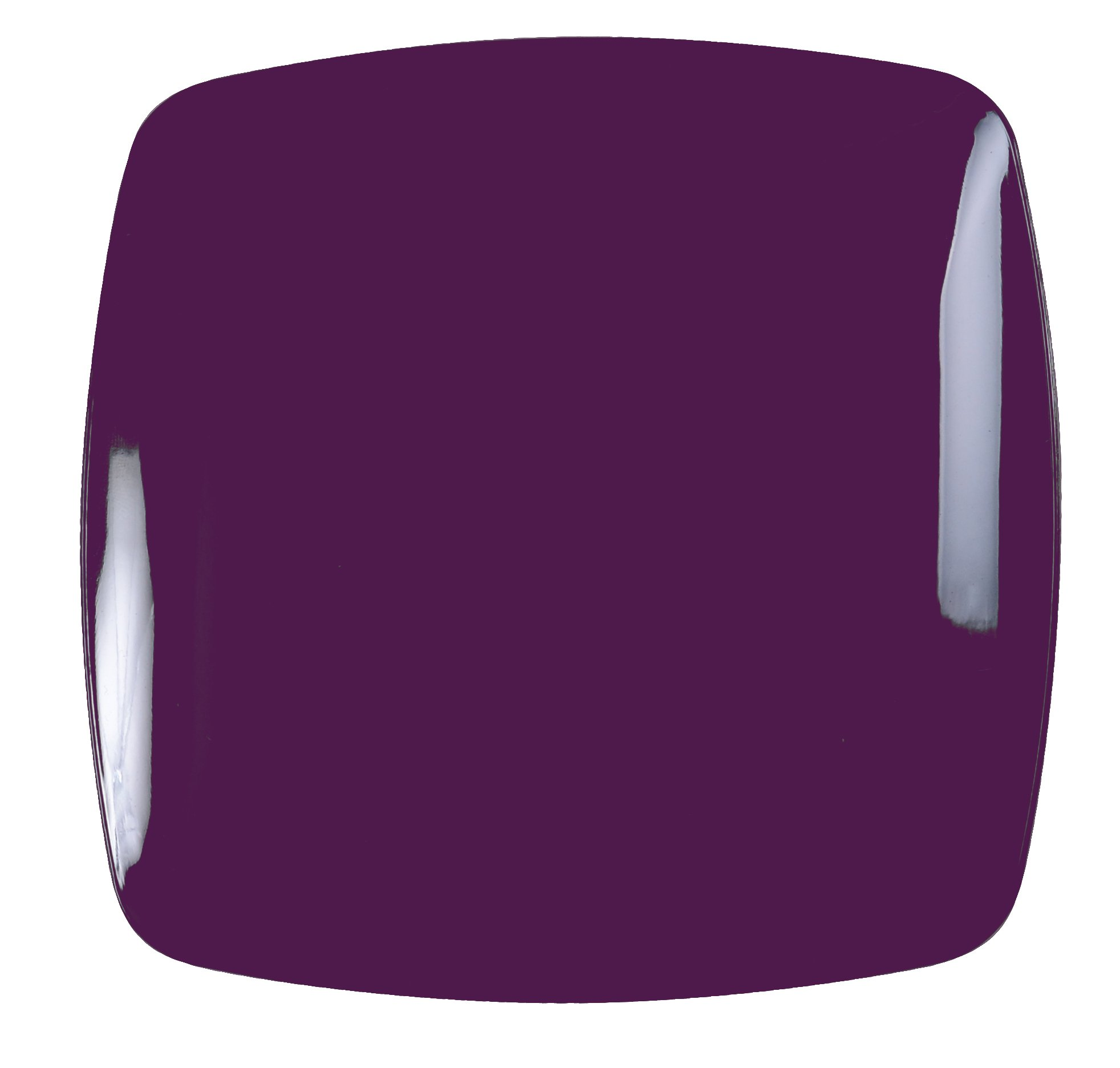 Renaissance 120-Piece Rounded Square China-Like Plate, 10-Inch, Purple, Case of 12 by Renaissance